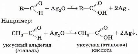 Уравнение реакции этаналя с оксидом серебра