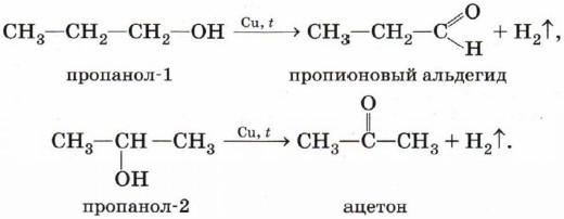 Получение альдегидов из спиртов